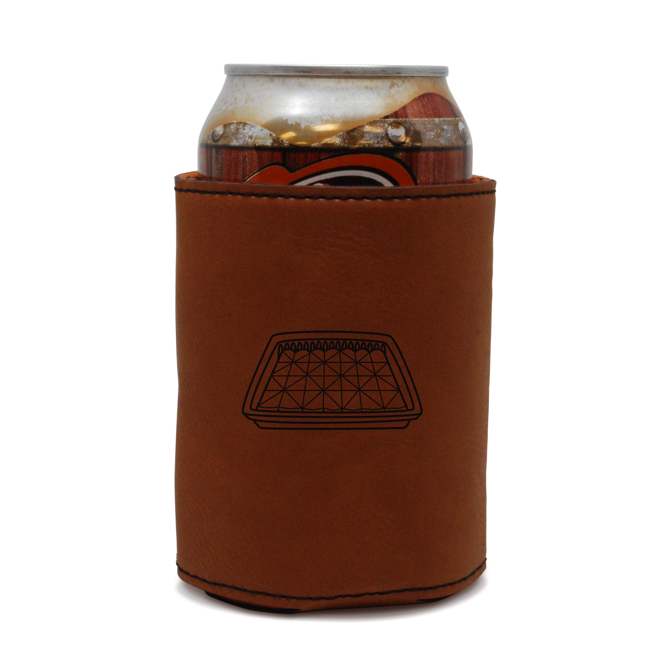 Baklava Leather Can Sleeve, Beer Sleeve, Beer Cooler, Beer Hugger by BigSpool Distributors