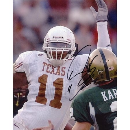 best service 642a4 5cbf5 Derrick Johnson Texas Longhorns Autographed 8'' x 10'' White ...