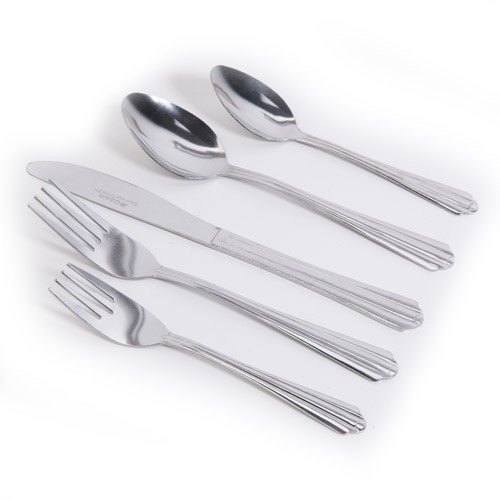 Gibson Everyday Taquan 45-Piece Flatware Set, Tumble Finish
