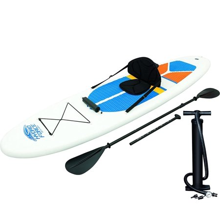 Bestway Hydro-Force White Cap Inflatable SUP Stand Up Paddle Board & Kayak (Best Way To Surprise Your Girlfriend With A Gift)