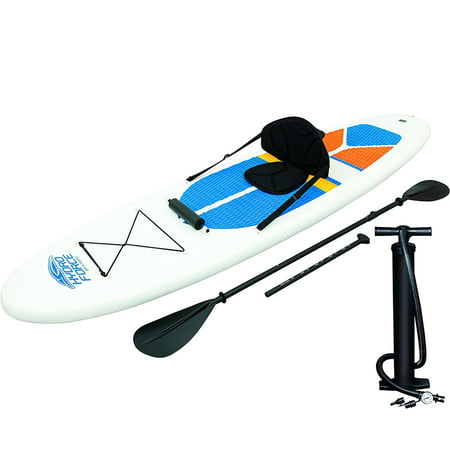 Bestway Hydro-Force White Cap Inflatable SUP Stand Up Paddle Board & Kayak (Best Cheap Paddle Board)