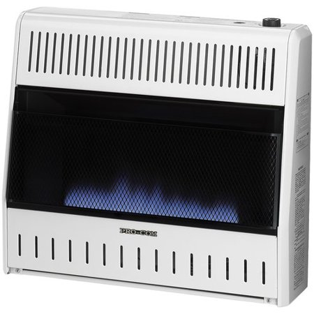 30000 Natural - ProCom Ventless Flame 30,000 BTU Natural Gas/Propane Wall Mounted Heater