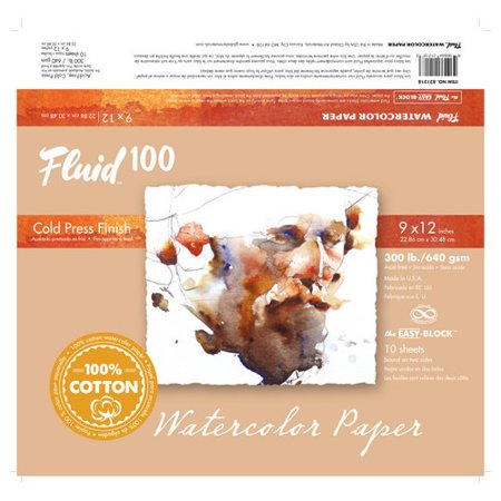 Global Art Materials Fluid 100 Cold Press 300 lb. Watercolor Paper (300 Lb Cold Press)