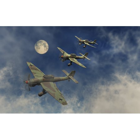 - A formation of German Ju 87 Stuka dive bombers Poster Print by Mark StevensonStocktrek Images