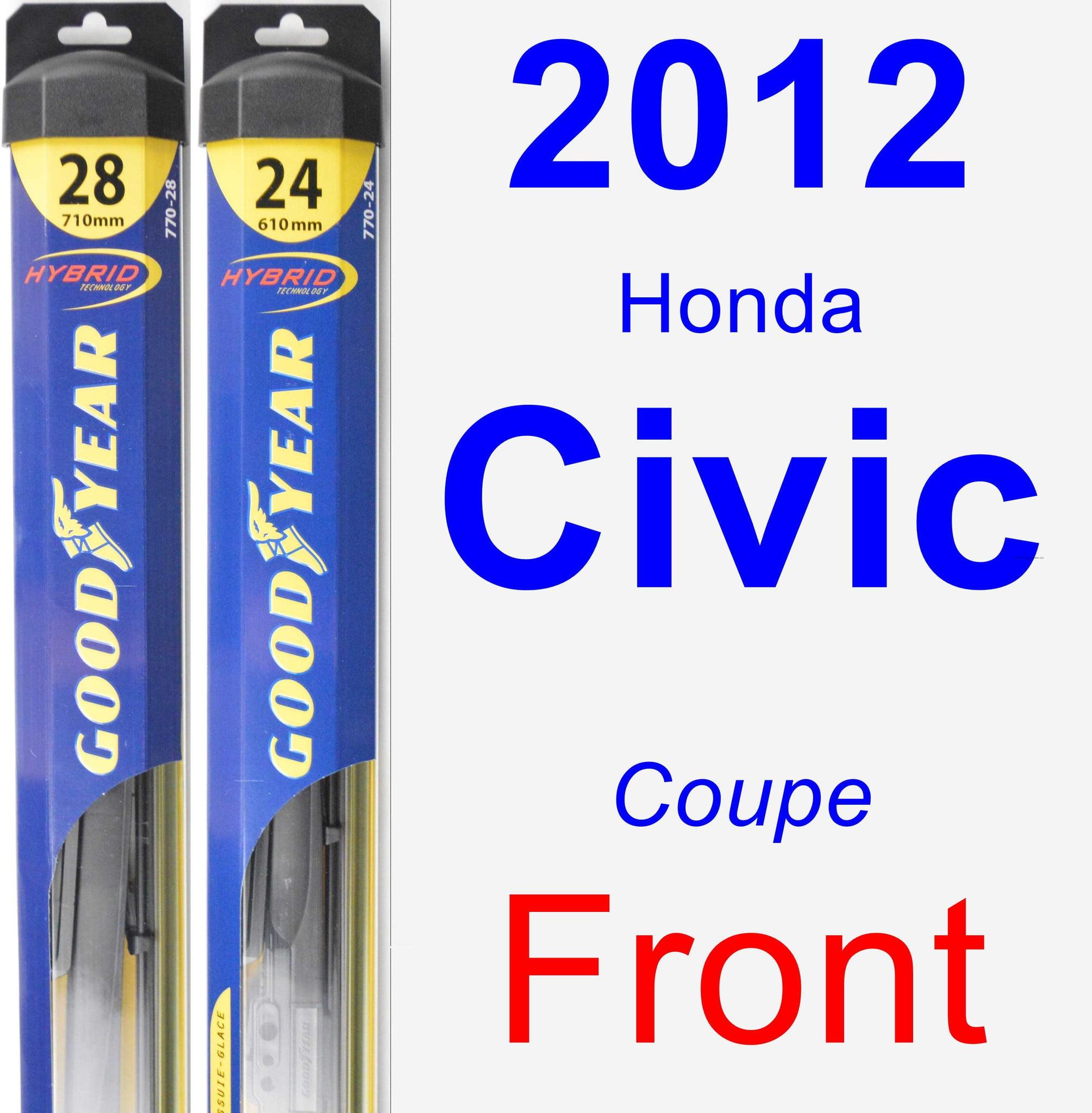 2012 Honda Civic Wiper Blade Set Kit Front 2 Blades Hybrid