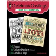 """Hot Off The Press Colorist Coloring Book 5"""" x 6"""", Christmas Greetings"""
