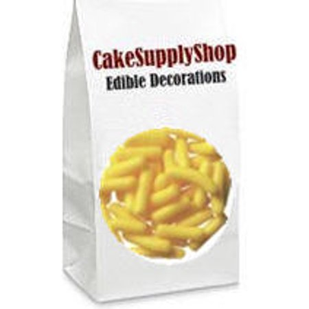 Yellow Cake & Cupcake Decoration Confetti Jimmies - Yellow Sprinkles