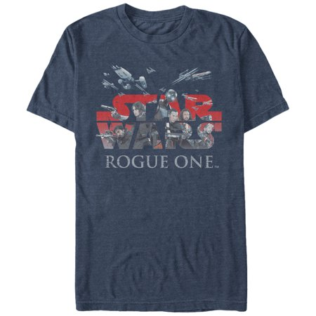 Star Wars Rogue One Rebellion Logo Mens Graphic T Shirt