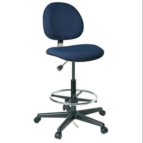 "BEVCO Ergonomic Chair 24"" to 34""H, Navy, V850SHC"