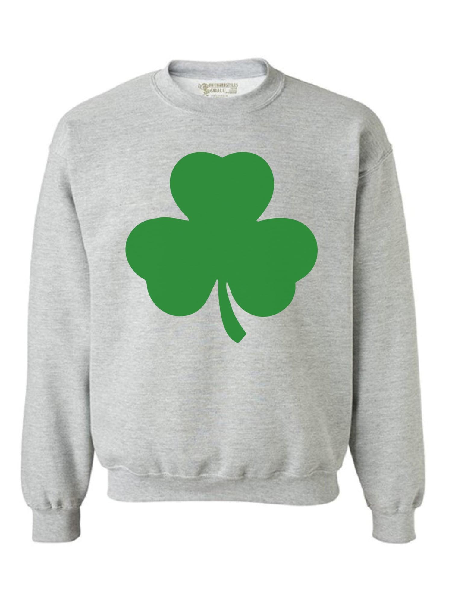Patricks Day Awkward Styles Shamrock Pocket Size Sweatshirt Lucky Sweater St