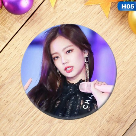 Member Button (TURNTABLE LAB Lot of and Fashion Kpop BLACKPINK All Members Badge Brooch Chest Pin Button)