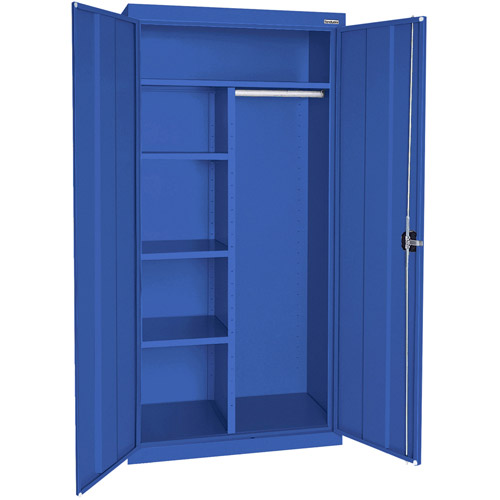 "Elite Series Combination Cabinet with Adjustable Shelves, 36""W x 24""D x 72""H, Blue"