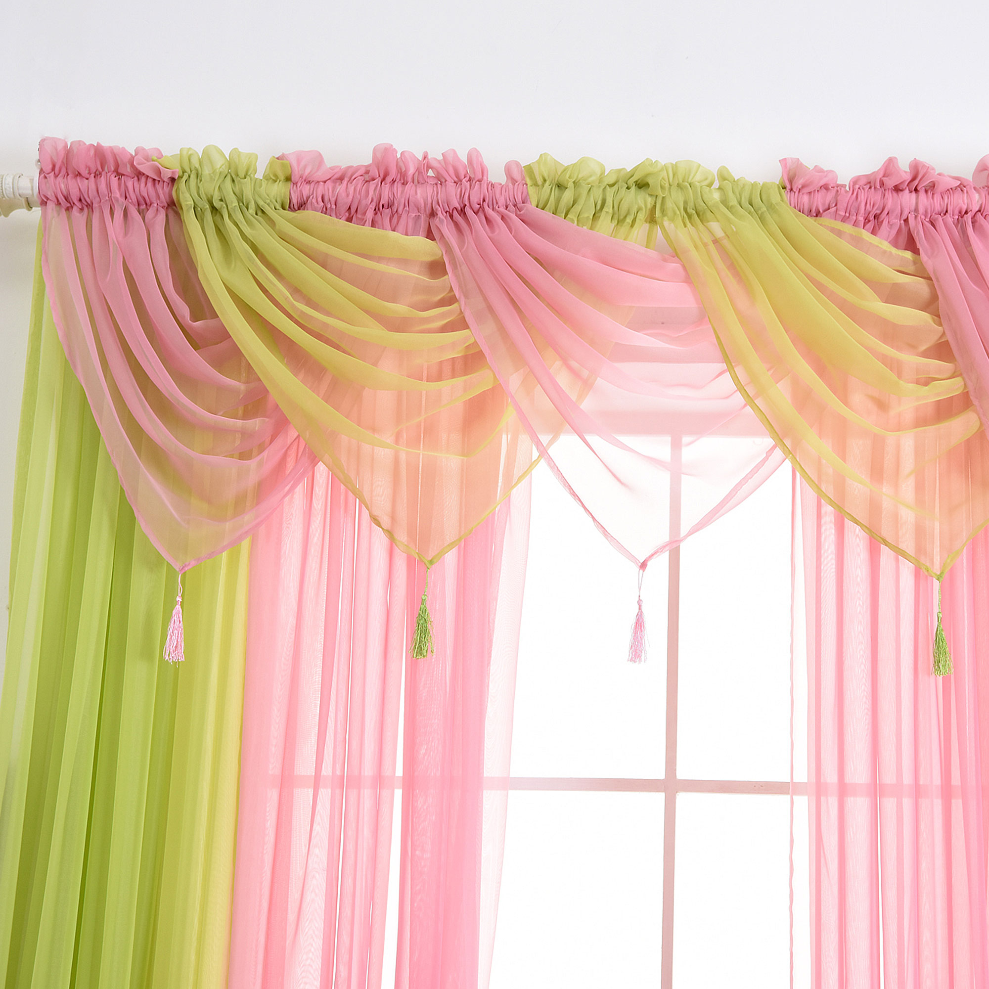 Solid Sheer Voile Net Curtains/Drape/Panel/Scarf/Valance