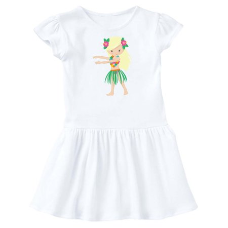 Blonde Hula Girl Toddler Dress (Hula Dress)