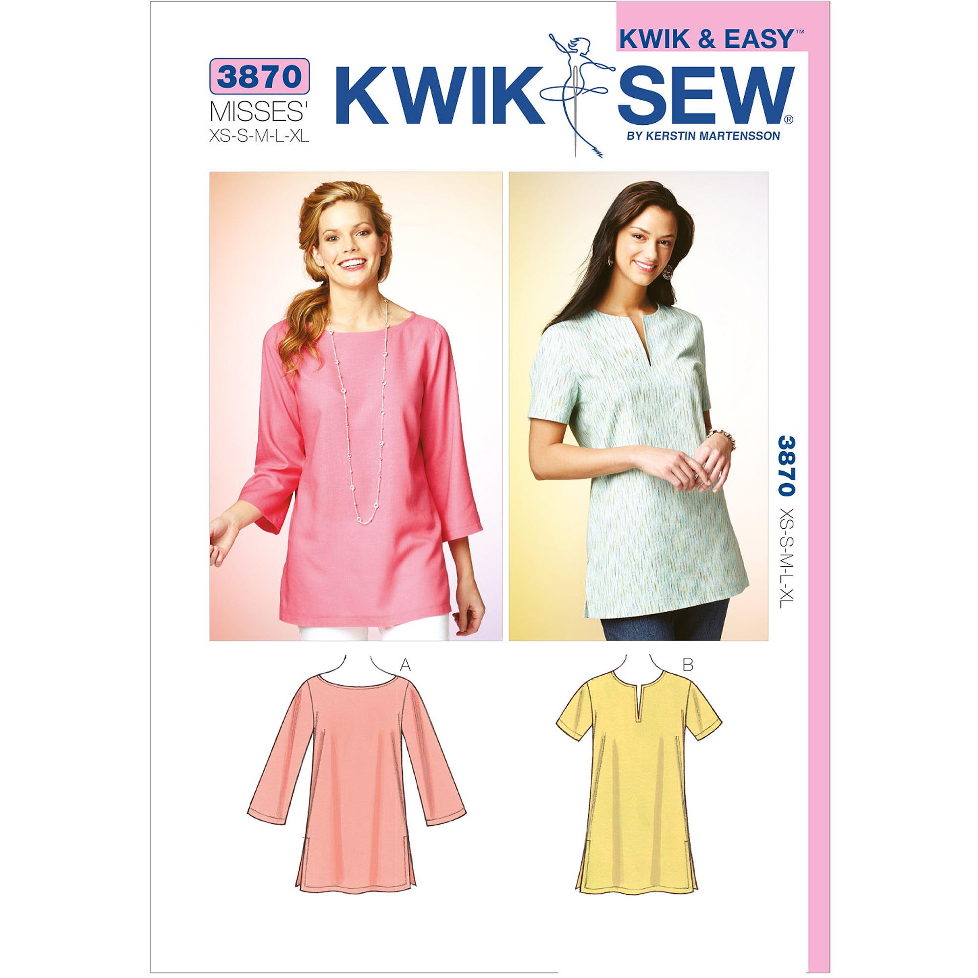 Kwik Sew Pattern Tunics, (XS, S, M, L, XL)