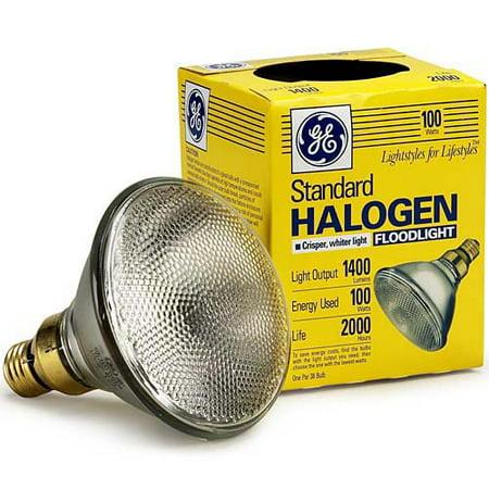 GE Lighting 17986 PAR38 Halogen Flood Light Bulb, 100 Watt, 490 Lumen