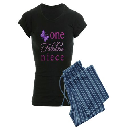 CafePress - One Fabulous Niece - Women's Dark Pajamas