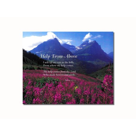 Christian Landscape Art (Help From Above Psalms 121 Nature Landscape Christian Wall Picture 8x10 Art)
