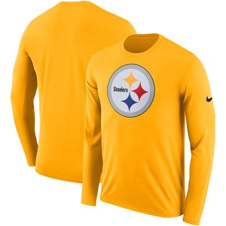 Nike Baseball Fan Gear - Pittsburgh Steelers Nike Fan Gear Primary Logo Performance Long Sleeve T-Shirt - Gold