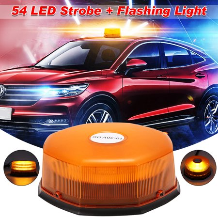 54 LED Strobe Revolving Rotating Beacon Roof Top Emergency Breakdown Light  Car flashinglight Warning Light