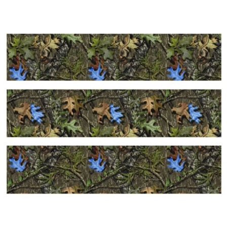 Mossy Oak Camo with blue leaves edible cake strips cake topper decorations birthday - Camo Birthday Cake