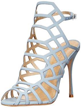 318584bcd53 Product Image SCHUTZ Women s Juliana Dress Sandal Jeans Blue Leather Caged  Stiletto Sandals ...