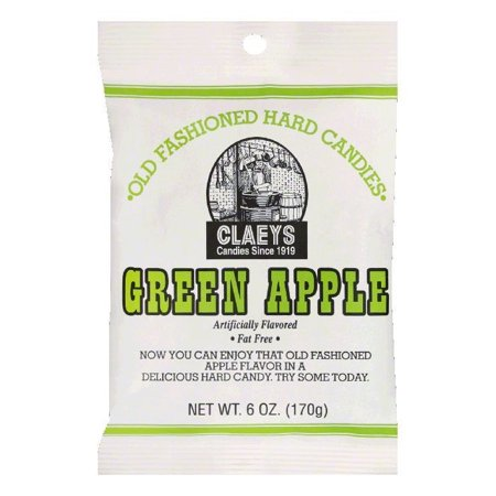(5 Pack) Claey's Green Apple Hard Candy, 6 oz