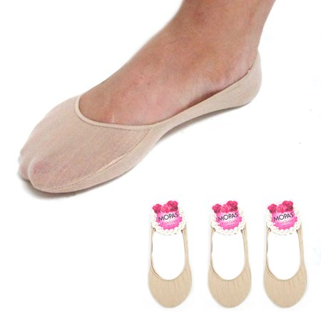 3 Pairs Nude Womens No Show Socks Footies Loafer Boat Liner Low Cut Girls (Show Girl)
