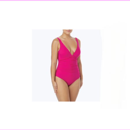 Contours by Coco Reef Solitaire V-Neck Bra Sized Underwire One Piece Swimsuit -