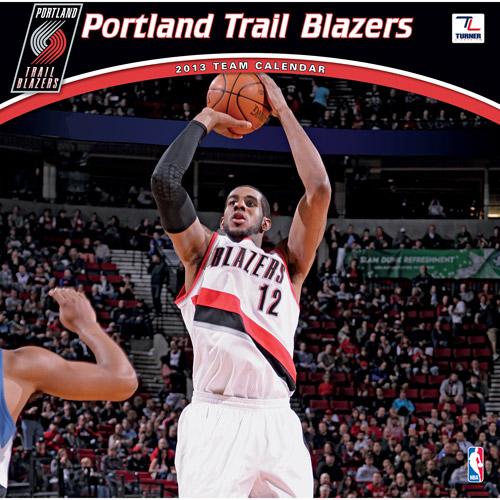 """Turner Licensing 2013 12"""" x 12"""" Team Wall Calendar, Portland Trail Blazers"""