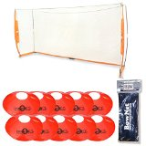 Bownet 5 x 10 ft. Portable Soccer Goal with Field Cones (10-pk) + Sand Bags (2pk)