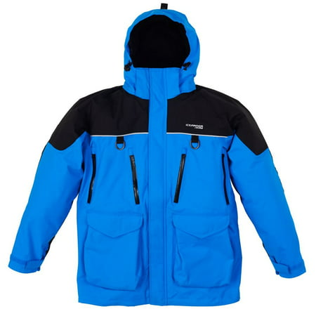 NEW  Clam Outdoors IceArmor Edge Cold Weather 300D Parka  - Blue/Black