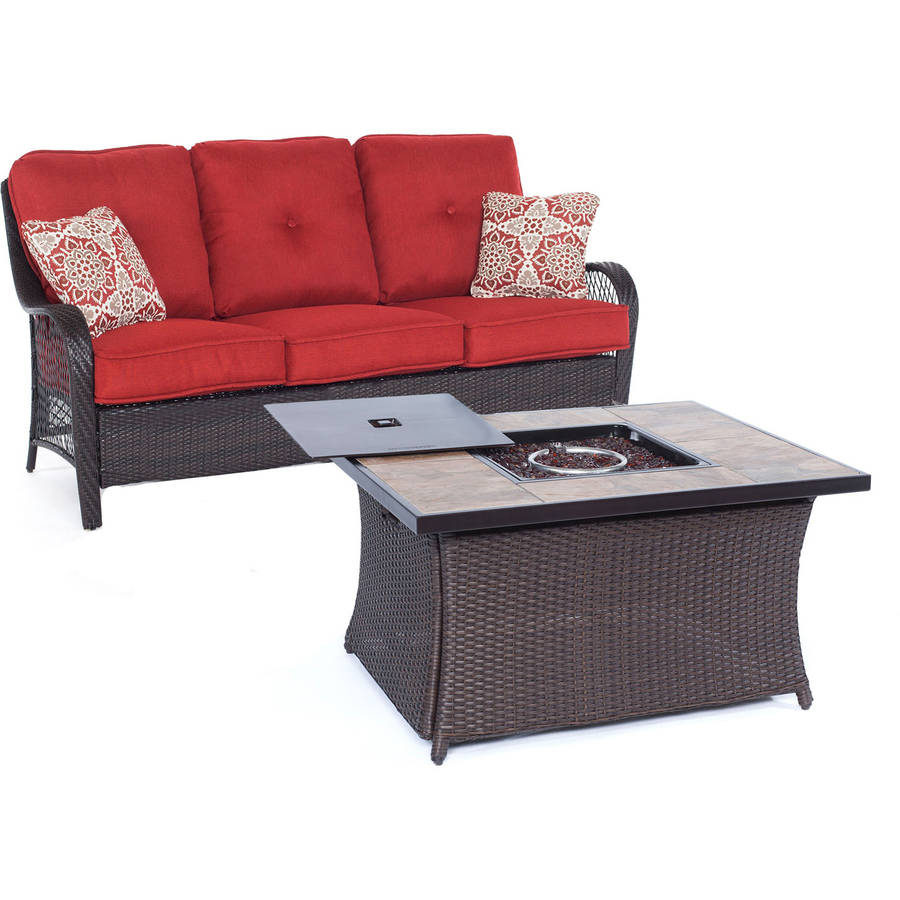 Hanover ORLEANS2PCFP-BRY-B Collection Fire Pit Set (2-Piece) Autumn Berry
