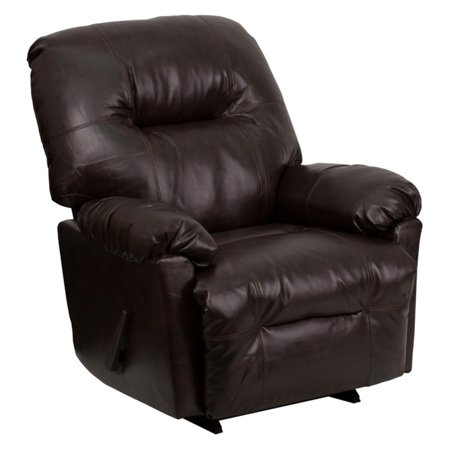 Brown Leather Chaise - Flash Furniture Contemporary Bentley Brown Leather Chaise Rocker Recliner