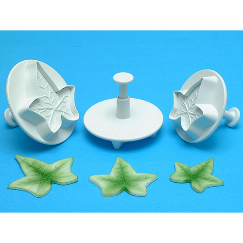Plunger Cutter Set 3 Pieces-Veined Ivy Leaf