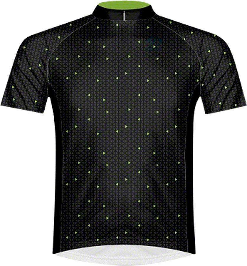 Primal Wear Spaced Men's Cycling Jersey: Green/Black, MD