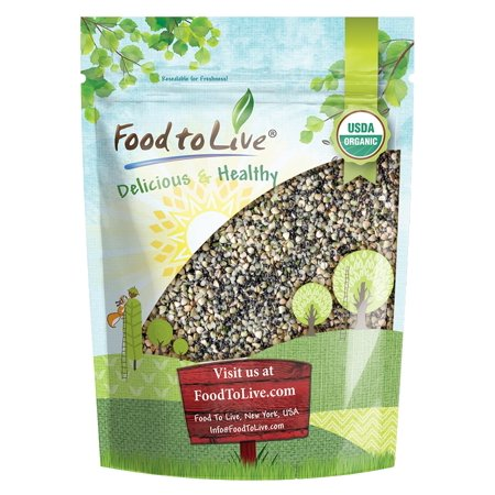 Organic Superfood Cereal Topper, 2 Pounds — with Non-GMO Hemp, Chia and Buckwheat Seeds, Non-Irradiated, Kosher, Vegan, No Added Sugar and Salt, Excellent Source of Omega-3, Good Source of Fiber, (Cereals With No Added Sugar Or Salt)