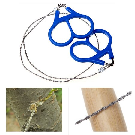 Bonrich Stainless Steel Hand Pocket Chain Wire Saws Portable Survival Camping - Pocket Chain