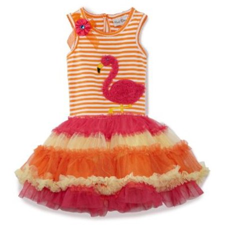 Orange/ Fuchsia Flamingo Tutu Dress  3 months to Girls 16 - Flamenco Girls