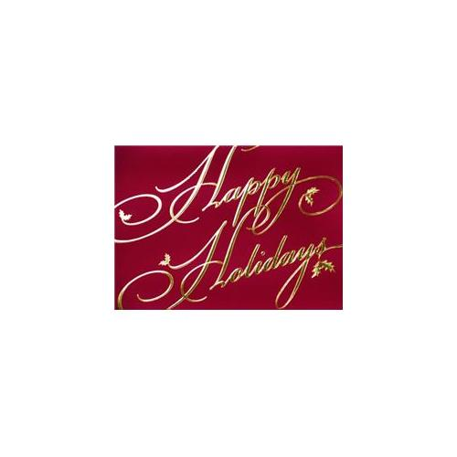 Birchcraft Studios 6041 Golden Holidays - Gold Lined Envelope with White Lining - Red Ink - Pack of 25