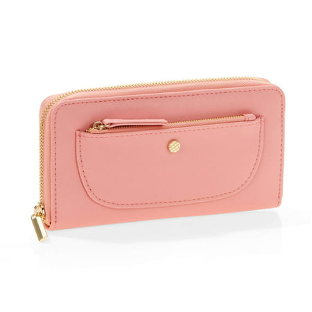 (Time and Tru Single Zip Around Wallet)