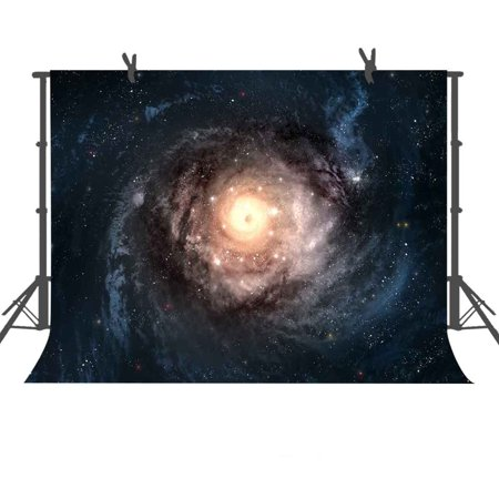 GreenDecor Polyster 7x5ft Galaxy Center Background Stars Photo Backdrop Studio Photography - Background Center