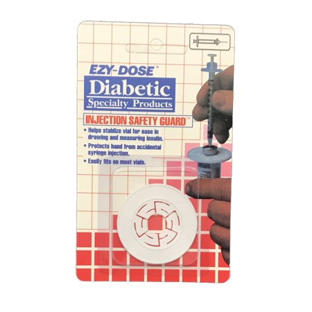 Ezy Dose Diabetic Injection Safety Guard - Protects Hand From Accidental Syringe