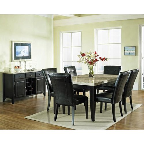 Steve Silver Monarch 7 Piece Marble Top Dining Set