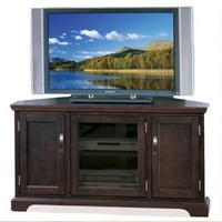 """Kingfisher Lane 46"""" Corner TV Stand with Storage in Chocolate Cherry"""