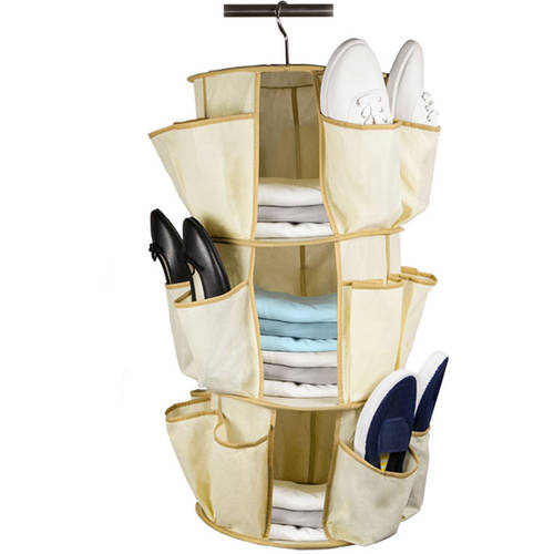 Sunbeam Shoe Carousel Organizer, Chrome