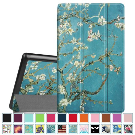 Fintie Slim Case for Amazon Fire HD 8 Tablet 7th Gen 2017/ 6th Gen 2016, Ultra Lightweight Stand Cover, Blossom