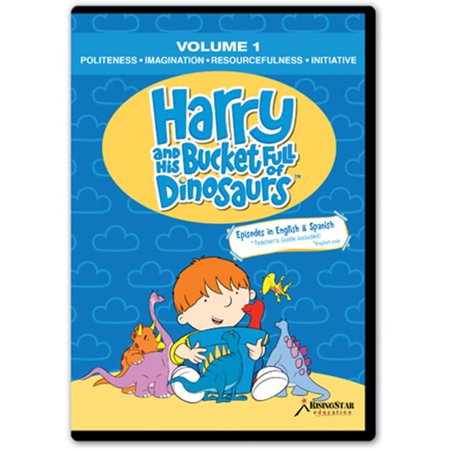 Rising Star Education HBD001 Harry & His Bucket Full of Dinosaurs- Vol. 1 - Politeness- Imagination- Resourcefulness- Initiative-