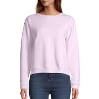 Deals on Hanes Womens V-Notch Pullover Fleece Sweatshirt