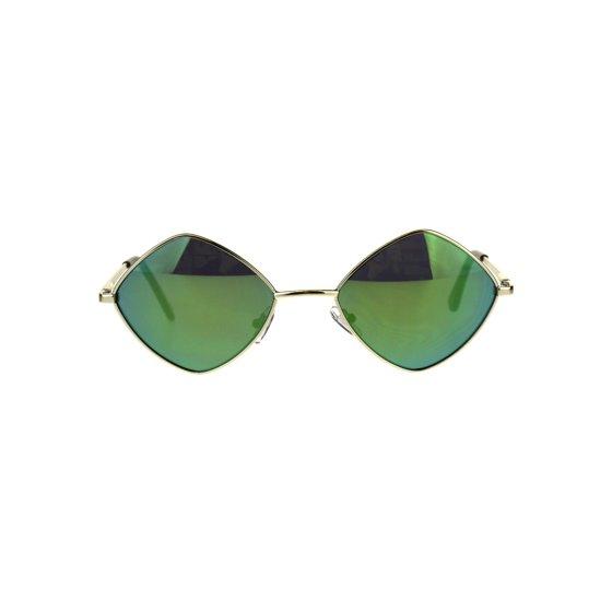 01256c5139584 SA106 - Mens Pimp Hippie Diamond Color Mirror Square Metal Rim Sunglasses  Gold Pink - Walmart.com